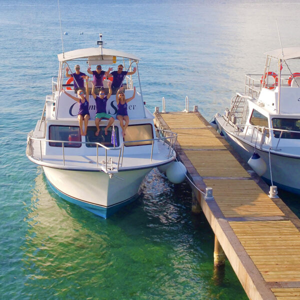Fast, easy access to the island's best dive sites are a short, comfortable ride away